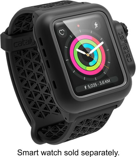 Catalyst - Protective Waterproof Case for Apple Watch™ 42mm - Stealth Black Compatible with Apple Watch 42mm