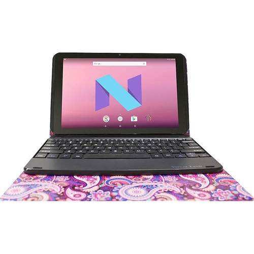 "Visual Land - Prestige Elite 10QD - 10.1"" - Tablet - 16GB - With Keyboard - Paisley"