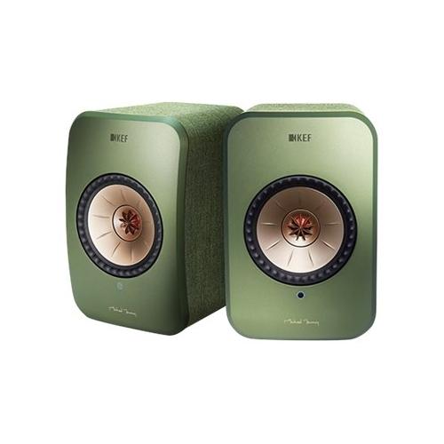 KEF - LSX Hi-Res Wireless Speakers - Olive