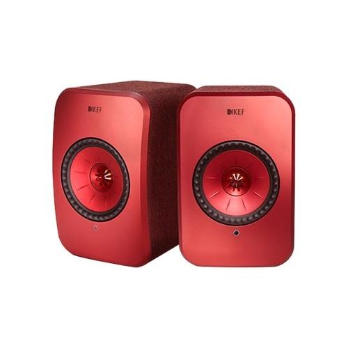 KEF - LSX Hi-Res Wireless Speakers - Maroon