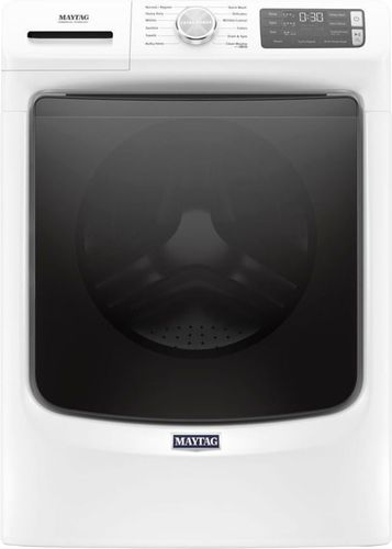 Maytag 4.8 cu. ft. Stackable White Front Load Washing Machine with Steam and 16-Hour Fresh Hold Option, ENERGY STAR