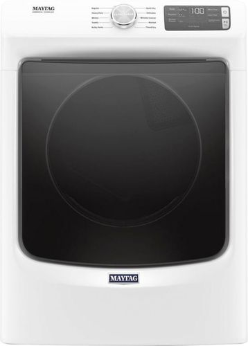 Maytag 7.3 cu. ft. 240-Volt White Stackable Electric Vented Dryer with Quick Dry Cycle, ENERGY STAR