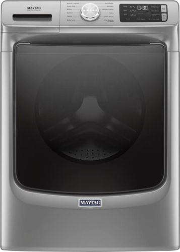 Maytag 4.8 cu. ft. Metallic Slate Stackable Front Load Washing Machine with Steam and 16-Hour Fresh Hold Option, ENERGY STAR