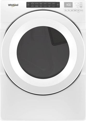 Whirlpool - 7.4 Cu. Ft. Gas Dryer - White Electronic control; 4 temperature setings; powder coat drum material