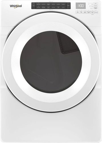 Whirlpool - 7.4 Cu. Ft. 36-Cycle Gas Dryer - White Electronic controls; 4 temperature settings; powdercoat drum material