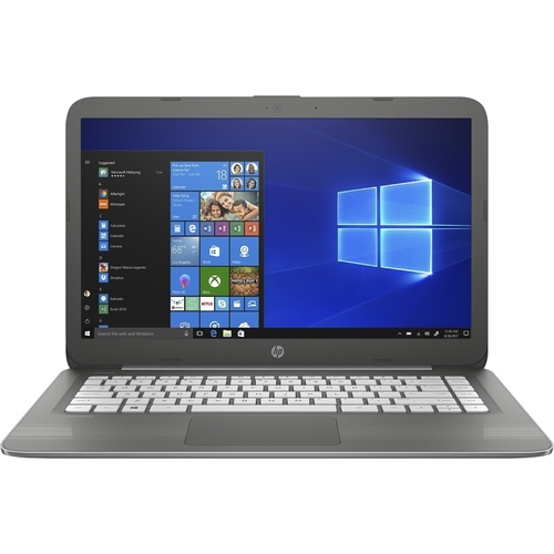 HP Stream Laptop 14-cb090nr, Celeron N3060, 4GB DDR3L, 64GB Emmc, Intel HD Graphics 400, Windows 10 Home in S mode, Smoke Gray