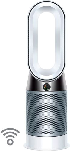 Dyson - HP04 Pure Hot + Cool 400 Sq. Ft. Smart Tower Air Purifier, Heater and Fan - White/Silver
