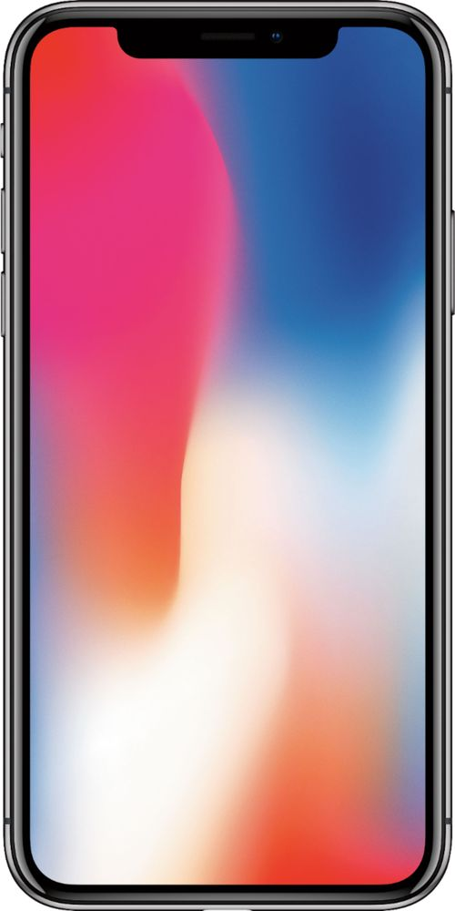 Apple - iPhone X with 64GB Memory Cell Phone (Unlocked) - Space Gray