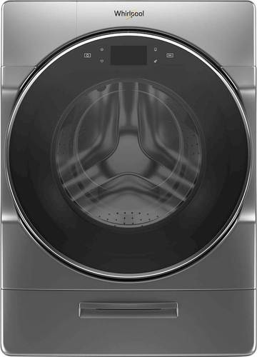 Whirlpool - 4.5 Cu. Ft. 37-Cycle Washer and 7-Cycle Dryer Electric Combo - Chrome Shadow