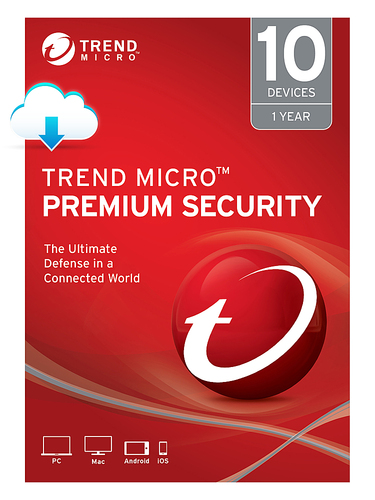 Trend Micro Premium Security (10-Devices) (1-Year Subscription) - Android|Mac|Windows|iOS [Digital]