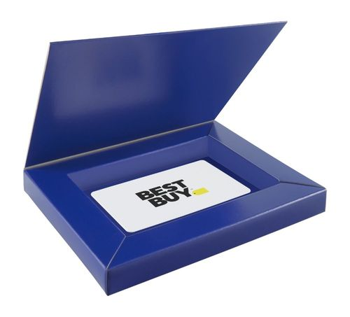 Best Buy GC - $100 Gift Card with Gift Box Perfect gift card? Piece of cake. All Best Buy gift cards are shipped free and are good toward future purchases online and in U.S. or Puerto Rico Best Buy stores. Best Buy gift cards do not have an expiration date.