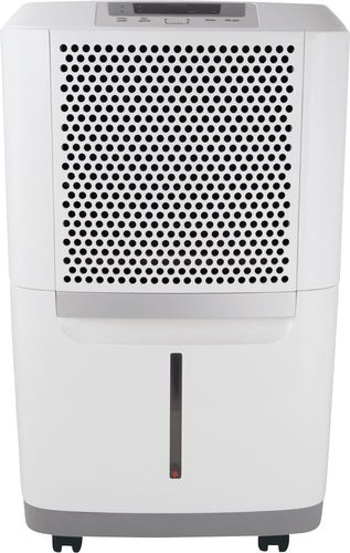 Frigidaire - 50-Pint Capacity Dehumidifier - White Includes drain hose connectionENERGY STAR certified6.7 ampsEffortless humidity control