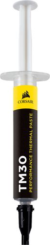CORSAIR - TM30 Performance Thermal Paste Zinc oxide thermal material; ultralow thermal impedance; high-efficiency heat transfer; no drying, cracking or thermal degradation; easy to apply