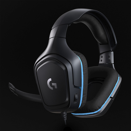 Logitech - G432 Wired 7.1 Surround Sound Gaming Headset for PC - Black/Blue