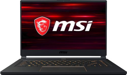 MSI GS65 15.6u0022 Gaming Laptop Core i7 16GB RAM 512GB SSD Matte Black with Gold Diamond Cut - 8th Gen i7-8750H Hexa-core - NVIDIA GeForce RTX 2060 - 144 Hz refresh rate - Thunderbolt 3 - Windows 10