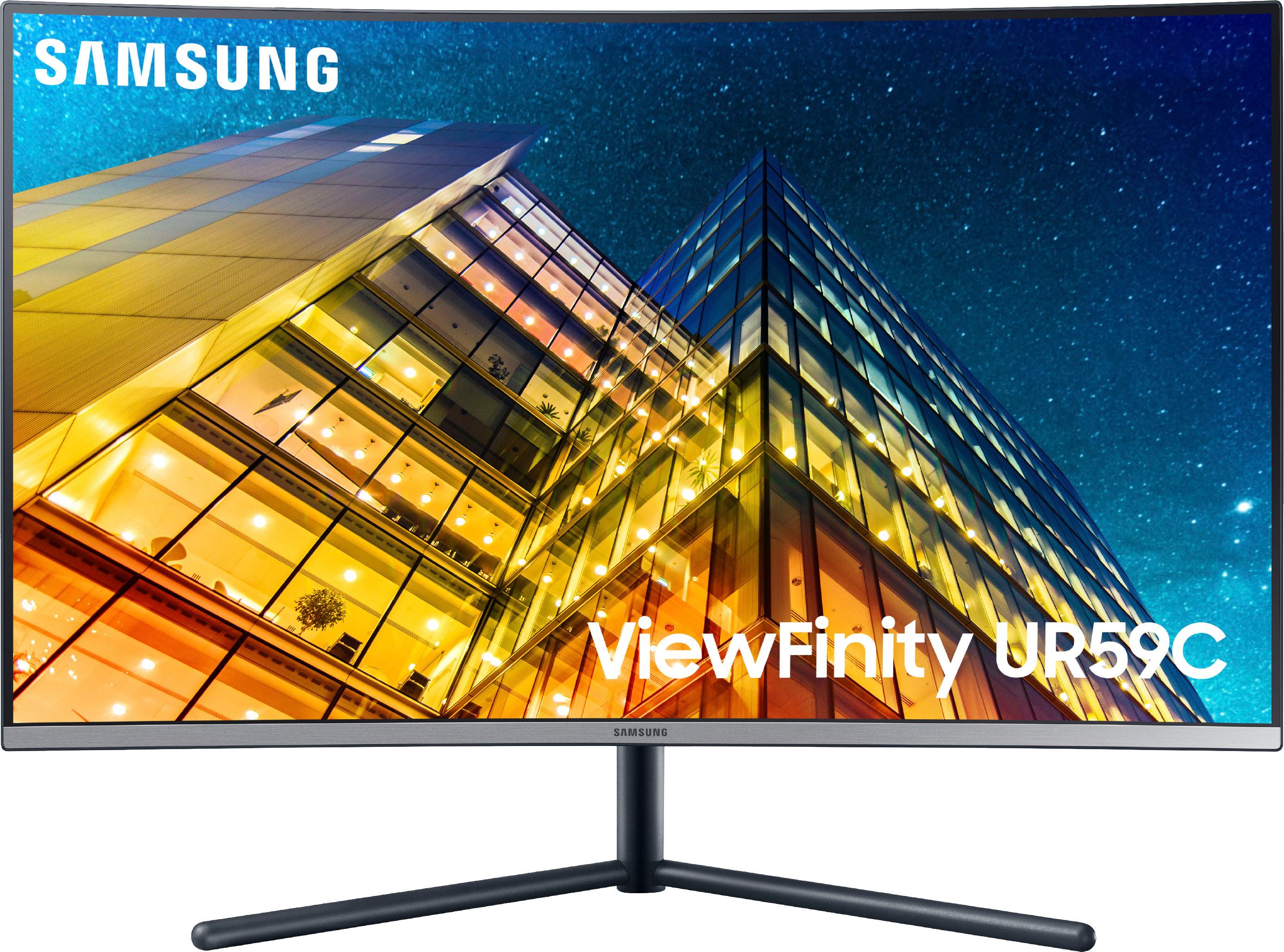 "Samsung 31.5"" LCD Curved 4K UHD Monitor Dark Blue Gray U32R590C"