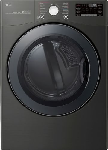 LG Electronics 7.4 cu. ft. Black Steel Ultra Large Capacity Gas Dryer with Sensor Dry TurboSteam and Wi-Fi Enabled