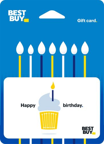 Best Buy GC - $75 Birthday Cupcake Gift Card Perfect gift card? Piece of cake. All Best Buy gift cards are shipped free and are good toward future purchases online and in U.S. or Puerto Rico Best Buy stores. Best Buy gift cards do not have an expiration date.