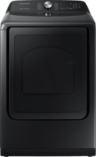 Samsung 7.4 cu. ft. Fingerprint Resistant Black Stainless Electric Dryer with Steam Sanitize+