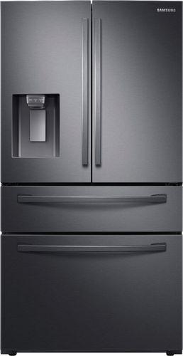Samsung 28 cu. ft. 4-Door French Door Refrigerator in Fingerprint Resistant Black Stainless