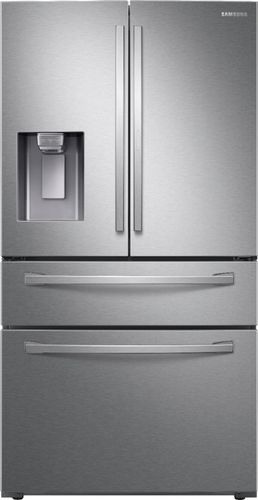Samsung 27.8 cu. ft. Food Showcase 4-Door French Door Refrigerator in Fingerprint Resistant Stainless Steel