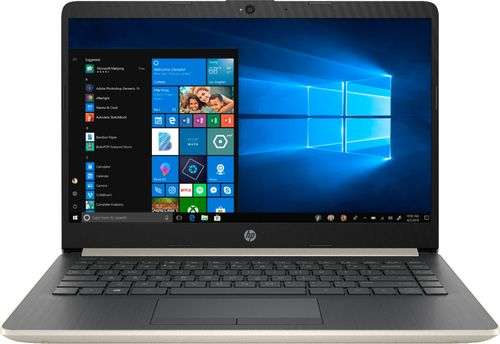 HP 14-CF0006DX 14u0022 Laptop - Intel Core i3 - 4GB Memory - 128GB Solid State Drive - Ash Silver Keyboard Frame Notebook PC Computer