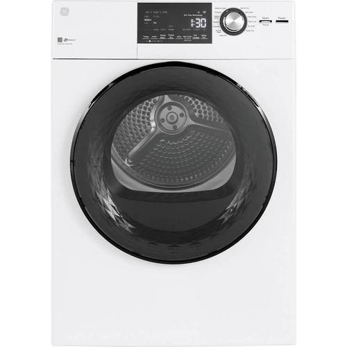 GE - 4.3 Cu. Ft. 14-Cycle Electric Dryer - White Electronic controls; 4 temperature selections; stainless steel drum