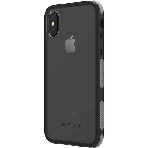 PureGear - DualTek Clear Case for Apple® iPhone® X and XS - Clear/Black PureGear DualTek Clear Case for Apple iPhone X and XS: Fits Apple iPhone X and XS; rubber and plastic materials; scratch resistant; shock-absorbing corners; play-through design