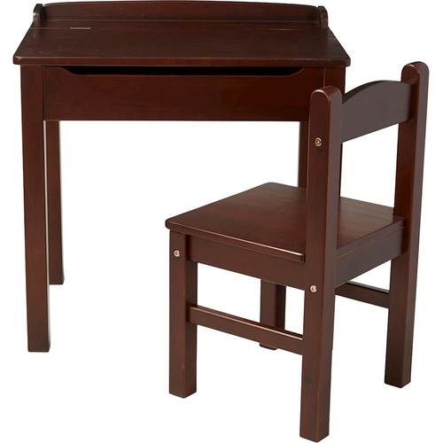 Melissa & Doug Wooden Child's Lift-Top Desk and Chair - Espresso