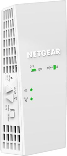 NETGEAR - AC1750 Dual-Band Wi-Fi Range Extender AC technology with transfer rates up to 1750 MbpsMU-MIMO technologyFastLane technology