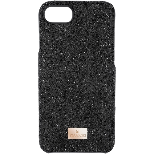 Swarovski - High Case for Apple® iPhone® 8 - Black Compatible with Apple iPhone 8; drop-proof