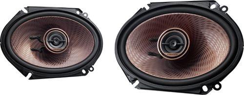 "Kenwood - 6"" x 8"" 2-Way Car Speaker - Black"