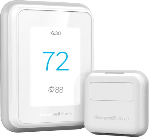 Honeywell - T9 Smart Programmable Touch-Screen Wi-Fi Thermostat with Smart Room Sensor - White