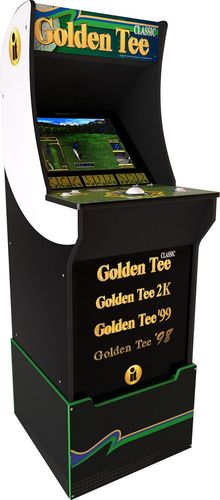 Golden Tee Arcade Machine with Riser, 4ft, Arcade1UP