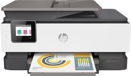 HP OfficeJet Pro 8025 All-in-One Wireless Printer - Copier, Fax, Printer, Scanner - Touchscreen - Works w/ Amazon Alexa, Google Asst.