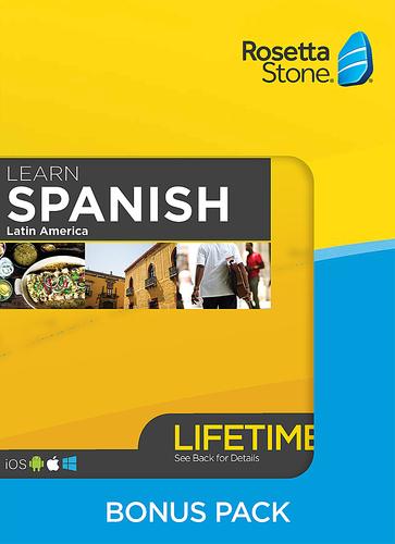 Rosetta Stone: Learn Spanish Bonus Pack (Lifetime Access +