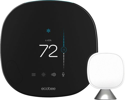 ecobee - Smart Programmable Touch-Screen Wi-Fi Thermostat with Alexa - Black