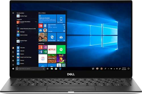 Dell XPS 13 9380 13.3u0022 Touchscreen Notebook - Core i7 i7-8565U - 8 GB RAM - 256 GB SSD - Platinum Silver, Carbon Fiber Black - Windows 10 Home