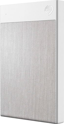 Seagate Backup Plus Ultra Touch 2TB USB-C and USB 3.0 External Hard Drive - White (STHH2000402)
