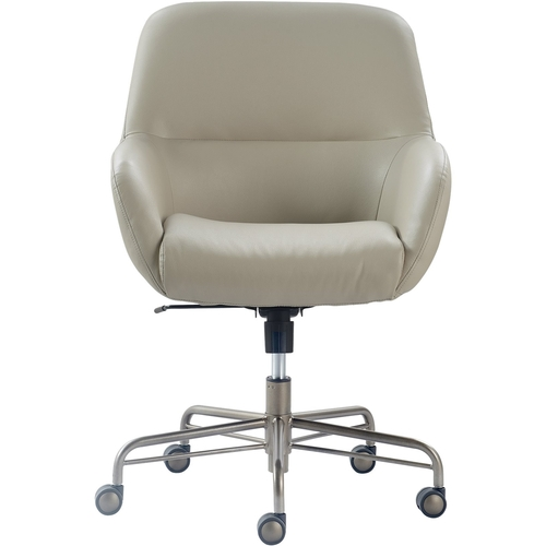 Forester Leather Office Chair Modern Cream - Finch
