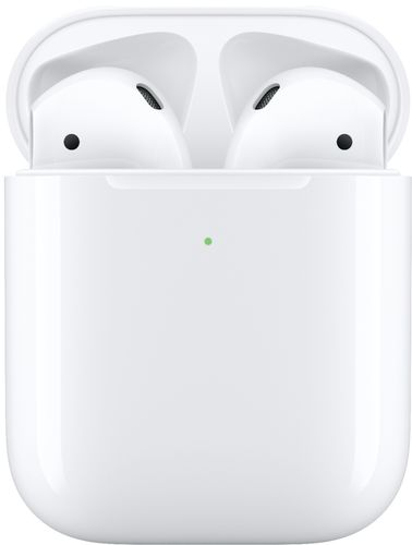 Apple - Geek Squad Certified Refurbished AirPods with Wireless Charging Case (Latest Model) - White