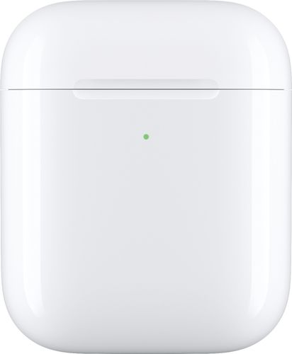 Apple - Geek Squad Certified Refurbished AirPods Wireless Charging Case - White Wireless Charging Case for AirPods available from Best Buy