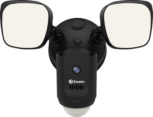 Swann - 1080p Wi-Fi Floodlight Security Camera - Black
