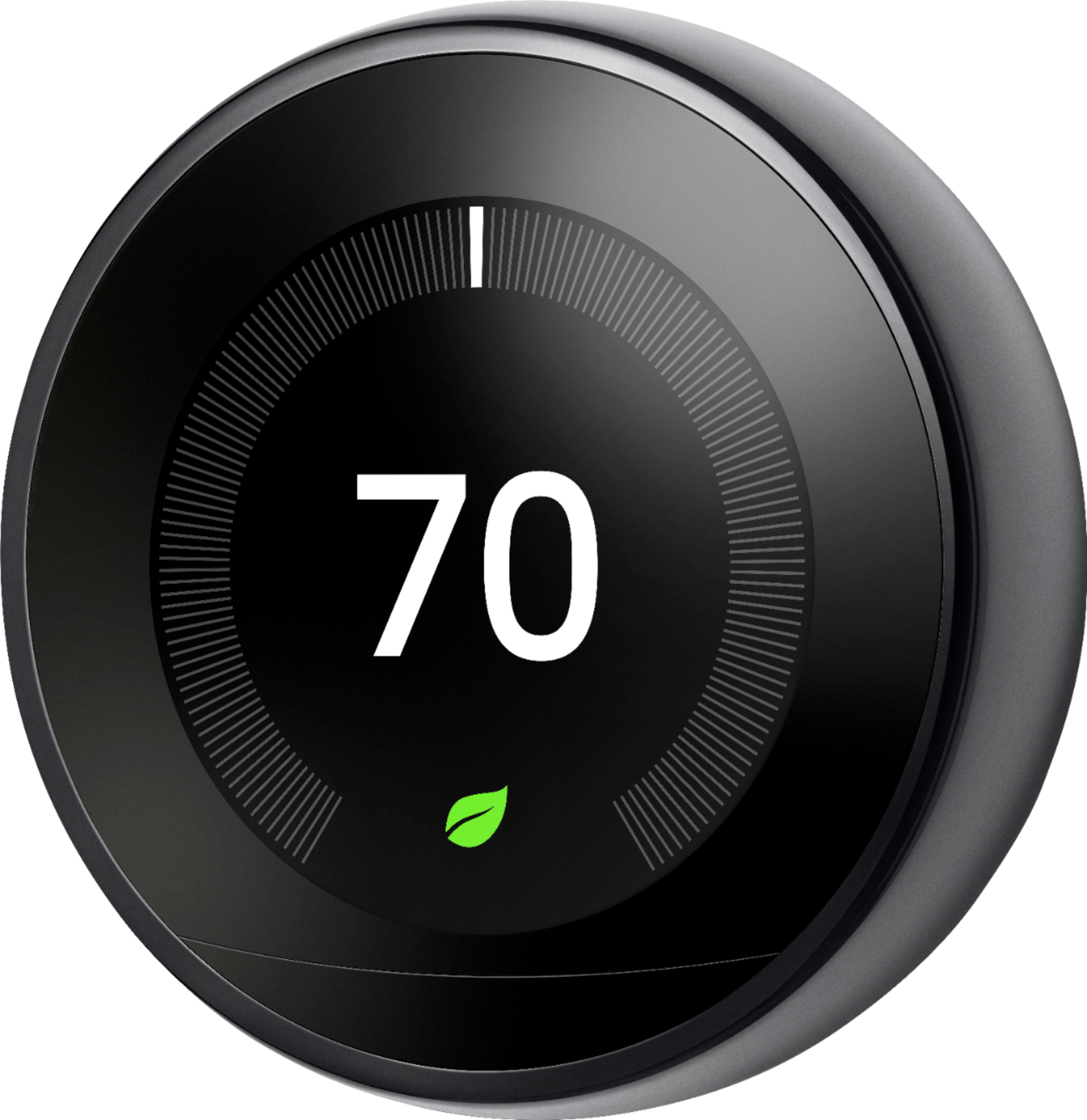 Google - Nest Learning Smart Thermostat - 3rd Generation - Black