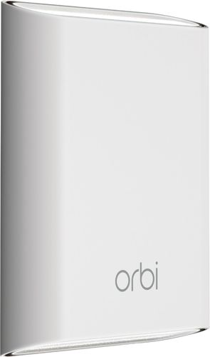 NETGEAR - Orbi Outdoor AC3000 Tri-band Wi-Fi Range Extender - White Wireless-AC technology with transfer rates up to 1733 MbpsEasy setup with NETGEAR Orbi appMU-MIMO technology1 Wi-Fi networkExtends range of your Wi-Fi up to 2500 sq. ft.