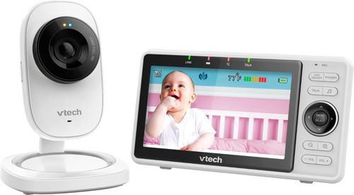 VTech - Video Baby Monitor with Wi-Fi camera and 5u0022 Screen - White