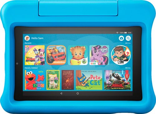 "Amazon Fire 7 Kids Edition Tablet 7"" Display 16 GB Blue Kid-Proof Case"