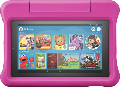 "Amazon Fire 7 Kids Edition Tablet 7"" Display 16 GB Pink Kid-Proof Case"