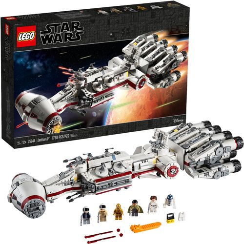 LEGO Star Wars Tantive IV Star Ship Building Kit with Toy Blasters & Stud-Shooters 75244