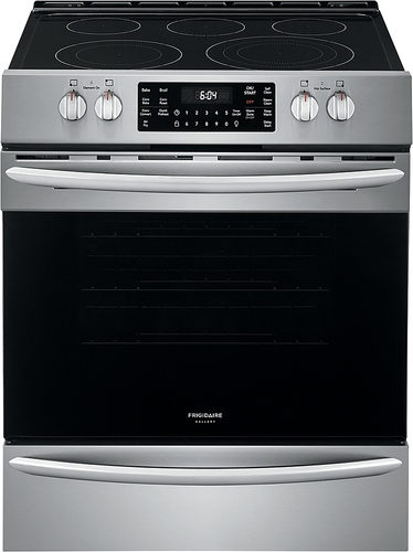 Frigidaire Gallery 30 in. 5.4 cu. ft. Front Control Electric Range with Air Fry in Stainless Steel